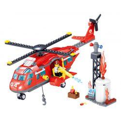 ZHEGAO QL0218 0218 Xếp hình kiểu Lego CITY HERO Fire Eagle Fire Rescue Helicopter Trực Thăng Cứu Hộ Cứu Hỏa 252 khối