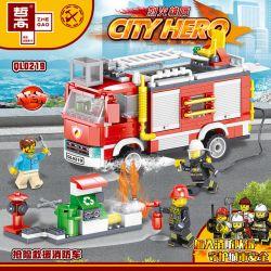 ZHEGAO QL0219 0219 Xếp hình kiểu Lego CITY HERO Fire Eagle Rescue Fire Truck Cứu Hộ Xe Cứu Hỏa 370 khối
