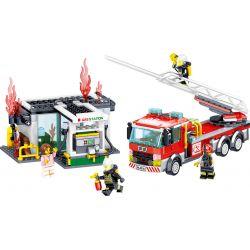 ZHEGAO QL0220 0220 Xếp hình kiểu Lego CITY HERO Fire Eagle Fire Police Task Cảnh Sát Phòng Cháy Và Chữa Cháy 463 khối