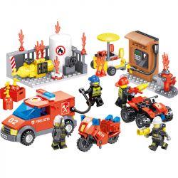 ZHEGAO QL0216 0216 Xếp hình kiểu Lego CITY HERO Fire Eagle Fire Safety Drill 4 Máy Khoan Phòng Cháy Chữa Cháy 4 Mẫu 335 khối