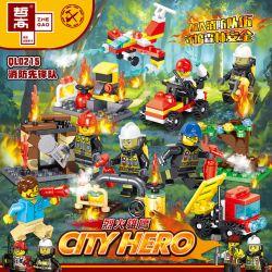 ZHEGAO QL0215 0215 Xếp hình kiểu Lego CITY HERO Fire Eagle 8 Models Of Fire Aviation Team 8 Người Tiên Phong Lửa