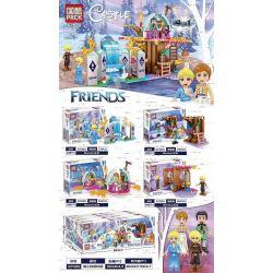 PRCK 67020 Xếp hình kiểu Lego Castle Frozen Magic Ice Snowland 4 4 Loại Công Viên Băng Tuyết Kỳ Diệu 309 khối