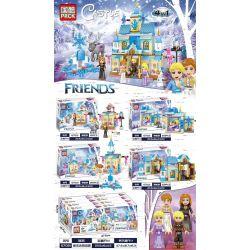 PRCK 67021 Xếp hình kiểu Lego Frozen Magic Ice Castle Lâu đài Băng Ma Thuật 516 khối