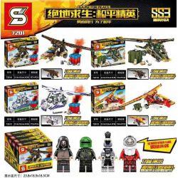 SHENG YUAN SY 7201 Xếp hình kiểu Lego GAME FOR PEACE Jedi Survival Peace Elite Glider 4 4 Loại Tàu Lượn 637 khối