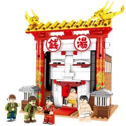 SEMBO 605103 Xếp hình kiểu Lego Chinatown Principle 3 Money Soup Súp Tiền 690 khối