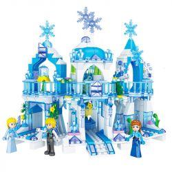 ZHEGAO QL2217 2217 Xếp hình kiểu Lego FROZEN Iceland Colors Icelandic Ice Kingdom Vương Quốc Băng Và Tuyết 463 khối