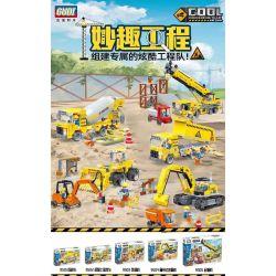 GUDI 9501 9502 9503 9504 9505 Xếp hình kiểu Lego BUILD TEAM Fun Wen Cool Engineering Team 5 5 Đội Kỹ Thuật Mát Mẻ gồm 4 hộp nhỏ 1332 khối