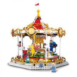 XINGBAO XB-30001 30001 XB30001 Xếp hình kiểu Lego CITY MODERN PARADISE Andersen Fairy Tale Selection Dream Rotating Trojan Băng Chuyền Mơ ước 2592 khối