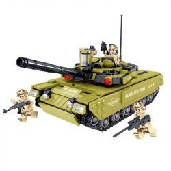 ZHEGAO QL0135 0135 Xếp hình kiểu Lego TANK BATTLE Armored Fist Steel Male Teacher T-84M Main Battle Tank Xe Tăng Chiến đấu Chủ Lực T-84M 775 khối
