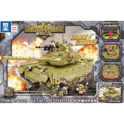 ZHEGAO QL0131 0131 Xếp hình kiểu Lego TANK BATTLE TanksForce China 99 Tanks Xe Tăng Kiểu 99 Của Trung Quốc 1162 khối