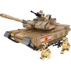 ZHEGAO QL0129 0129 Xếp hình kiểu Lego TANK BATTLE TanksForce China M1A2 Main Battle Tank Xe Tăng Chiến đấu Chủ Lực M1A2 Của Trung Quốc 1051 khối
