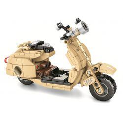 SEMBO 701104 SHENZHEN RAEL ENTERTAINMENT 50005 Xếp hình kiểu Lego MOTO Vespa 150(1956) Enjoy The Ride Small Sheep Motorcycle Động Cơ Cừu Nhỏ 256 khối