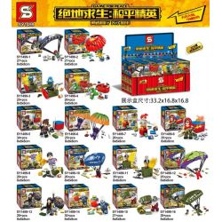 SHENG YUAN SY SY1499 1499 Xếp hình kiểu Lego PUBG BATTLEGROUNDS Jedi Survival Peace Elite Party 16 PlayerUnknown's Battlegrounds Peace Elite Minifigure 16 Mô Hình 450 khối