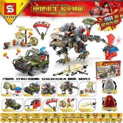 SHENG YUAN SY SY1467 1467 Xếp hình kiểu Lego GAME FOR PEACE Jedi Survival Peace Elite Guild Wars Dinosaur Park Thiên đường Khủng Long Chiến đấu 885 khối