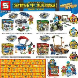 SHENG YUAN SY SY1446 1446 Xếp hình kiểu Lego GAME FOR PEACE Jedi Survival And Peace Elite 4 Phong Cách PlayerUnknown's Battlegrounds Peace Elite 4 463 khối