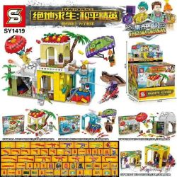 SHENG YUAN SY SY1419 1419 Xếp hình kiểu Lego GAME FOR PEACE Jedi Survival And Peace Elite 4 Phong Cách PlayerUnknown's Battlegrounds Peace Elite 4 681 khối