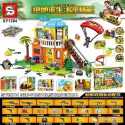 SHENG YUAN SY SY1384 1384 Xếp hình kiểu Lego GAME FOR PEACE Jedi Survival Peace Elite Heart Island Villa Attack And Defense Trận Chiến Tấn Công Và Phòng Thủ Trên đảo Biệt Thự Hình Trái Tim 520 khối