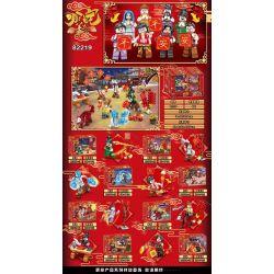 BLANK 82219 Xếp hình kiểu Lego COLLECTABLE MINIFIGURES Where Is Jiang Taogong? Nezha Jiang Taigong Hình 8 296 khối