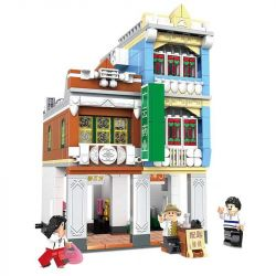CHAOSHENG C0336 0336 WOMA C0336 0336 Xếp hình kiểu Lego MODULAR BUILDINGS Metropolitan Creative City Riding Building 8 Số 8 Phố Wenming, Qilou 653 khối