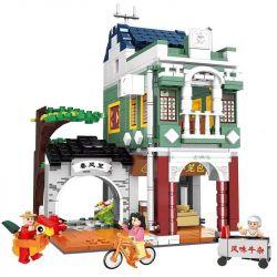 CHAOSHENG C0337 0337 WOMA C0337 0337 Xếp hình kiểu Lego MODULAR BUILDINGS Metropolitan Creative City Riding A Spring Breeze Trong Gió Xuân 681 khối