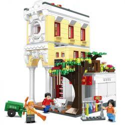 CHAOSHENG C0338 0338 WOMA C0338 0338 Xếp hình kiểu Lego MODULAR BUILDINGS Metropolitan Creative City Riding The East Collection Cửa Hàng Cầm đồ Qilou Dongbao 687 khối