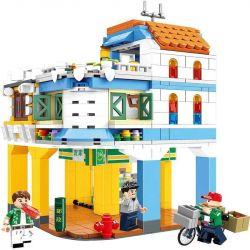 CHAOSHENG C0339 0339 WOMA C0339 0339 Xếp hình kiểu Lego MODULAR BUILDINGS Metropolitan Creative City Riding A Civilized Street Phố Văn Minh Qilou 672 khối