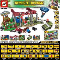 SHENG YUAN SY SY1364 1364 Xếp hình kiểu Lego GAME FOR PEACE Jedi Survival Peace Elite Jedi Island Nuclear Power Plant Big Fight Nhà Máy điện Hạt Nhân đảo Jedi 345 khối