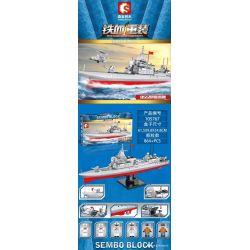 SEMBO 105767 Xếp hình kiểu Lego IRON BLOOD HEAVY EQUIPMENT Iron Plate 055 Destroyer Khu Trục Hạm Type 055 864 khối