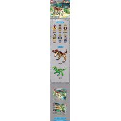 ELEPHANT JX90076 90076 Xếp hình kiểu Lego JURASSIC WORLD Dinosaur World Dinosaur Attack Khủng Long Tấn Công 898 khối