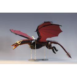 SUPER 18K K89 K90 Xếp hình kiểu Lego Game Of Thrones Drogon、Viserion Game Of Thrones Long Ma And Zhuo Ge, Wayselon Long Mã Và Zhuo Ge, Vesselion 2000 khối