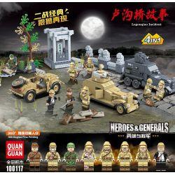 QUANGUAN 100117 Xếp hình kiểu Lego HEROES & GENERALS Heroes & Generals Lugouqiao Incident Hero And General Lugou Bridge Story 4 Câu Chuyện Cầu Lugou 4