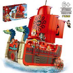 SHENG YUAN SY SY6296 6296 Xếp hình kiểu Lego ONE PIECE Jiu Snake Pirate Ship Corsair Hydra 1099 khối