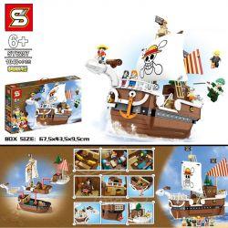 SHENG YUAN SY SY6297 6297 Xếp hình kiểu Lego ONE PIECE Mei Li Pirate Ship 1048 khối
