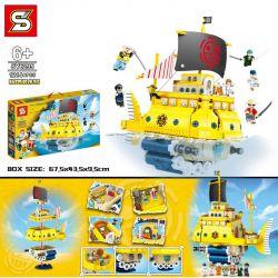 SHENG YUAN SY SY6295 6295 Xếp hình kiểu Lego ONE PIECE Polar Diving Pirate Ship Tàu Cướp Biển Lặn Cực 1214 khối