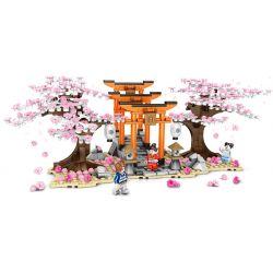 SEMBO 601075 Xếp hình kiểu Lego CHERRY BLOSSOM SEASON Sakura Season Birdhouse Chidori 647 khối