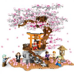 SEMBO 601076 Xếp hình kiểu Lego CHERRY BLOSSOM SEASON Sakura Season Hemisted Sakura Mức độ Trung Bình Cherry View 1167 khối