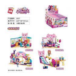 Enlighten 2027 Qman 2027 Xếp hình kiểu Lego Cherry 4 Magic Makeup, Happy Doll Machine, Beautiful Shot Wall, Cat Microphone 4 Kiểu Phòng Thay đồ ảo Diệu, Máy Vuốt Hạnh Phúc, ảnh Treo Tường đẹp, Công Vi
