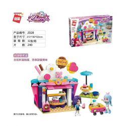 Enlighten 2028 Qman 2028 Xếp hình kiểu Lego Cherry Sweet Cake House Ngôi Nhà Bánh Ngọt 240 khối
