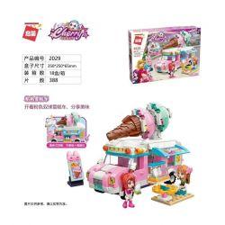 Enlighten 2029 Qman 2029 Xếp hình kiểu Lego Cherry Powder Ice Cream Car Xe Kem Bột 388 khối
