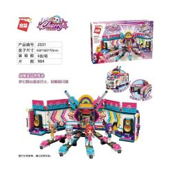 Enlighten 2031 Qman 2031 Xếp hình kiểu Lego Cherry Super New Star Shining Stage Bus Xe Buýt Giai đoạn Tỏa Sáng Siêu Tân Tinh 984 khối