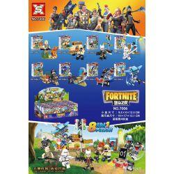 SX 7006 Xếp hình kiểu Lego FORNITE Fortress Night House 8 Pháo đài đêm 8 Minifigures