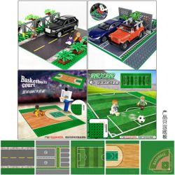 WANGE 8815 8816 8817 8818 Xếp hình kiểu Lego SPORTS Wange 32x32 Floor 5 Asphalt Road, Parking Lot, Football Field, Basketball Court, Baseball Sports Field Tấm đế Vange 32x32 5 Loại Đường Nhựa, Bãi đậu