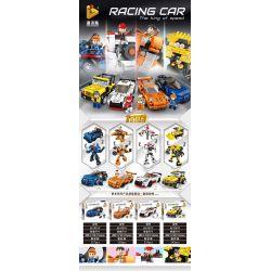 PanlosBrick 661001A 661001B 661001C 661001D Panlos Brick 661001A 661001B 661001C 661001D Xếp hình kiểu Lego RACING CAR The King Of Speed RACING CAR Racing 4 4 Chiếc Xe đua gồm 4 hộp nhỏ 933 khối