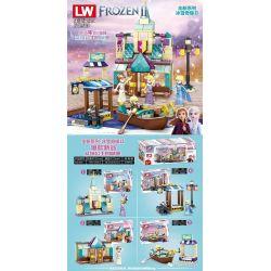 LW 503 Xếp hình kiểu Lego FROZEN Frozen II Ice Snow Qiyuan II Aisha Princess Castle Lâu đài Của Công Chúa Aisha 322 khối
