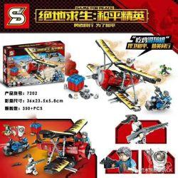 SHENG YUAN SY 7202 Xếp hình kiểu Lego GAME FOR PEACE Jedi Survival Peace Elite Eating Chicken Glider Ăn Gà Lượn 350 khối