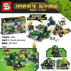SHENG YUAN SY 7203 Xếp hình kiểu Lego GAME FOR PEACE Jedi Survival Peace Elite Eating Chicken Ăn Thịt Gà 291 khối