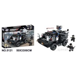 Winner 5121 Xếp hình kiểu Lego JUSTICE GUARD Justice Vanguard Pioneer Special Police Water And Land Amphibious Armored Vehicles Xe Bọc Thép Lội Nước SWAT 492 khối