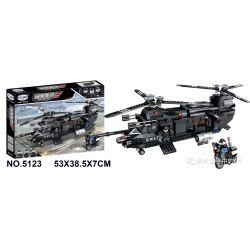 Winner 5123 Xếp hình kiểu Lego JUSTICE GUARD Justice Vanguard Pioneer Special Police Transporter Máy Bay Vận Tải SWAT 767 khối