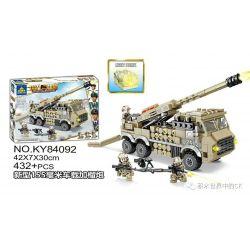 Kazi KY84092 84092 Xếp hình kiểu Lego MILITARY POWER Guiline Eagle New 155mm Car Plus Grenado Lựu Pháo 155mm Lắp Trên Xe Mới 432 khối