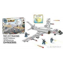 Kazi KY84096 84096 Xếp hình kiểu Lego MILITARY POWER Guiline Eagle Boom-6K Bomber Máy Bay Ném Bom H-6K 310 khối